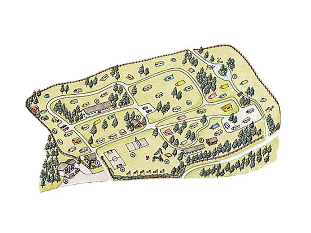 Camping Palafavera - Piantina